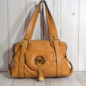 Michael Kors Brown Leather Shoulder Bag Purse